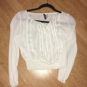 Cropped White Blouse